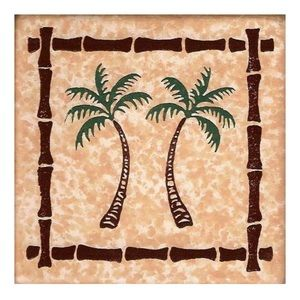 💖4/$25 Tropical Palm Tree Bisque Coasters